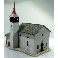 Fertigmodell 38813 Antoniuskapelle Saas-Grund - Handpatiniert und coloriert