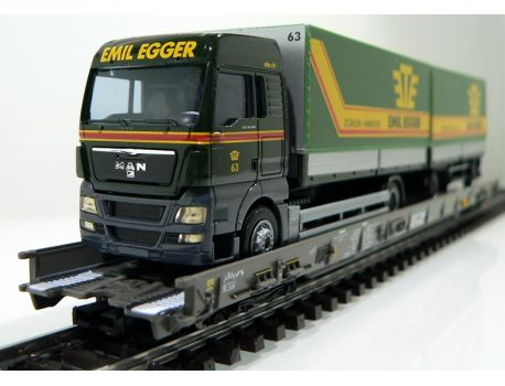 Märklin 47404 SBB Hupac Typ Saakms LKW - Emil Egger Schweiz