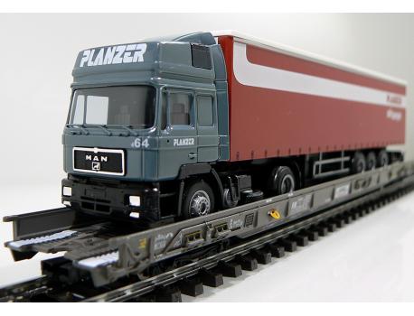 Märklin 47404 SBB Hupac Typ Saakms LKW - Sondermodell Planzer Air Cargo Schweiz