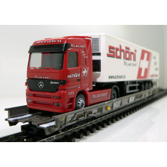 Märklin 47404-S SBB Hupac Typ Saakms LKW - Sondermodell Schöni Logistics Schweiz