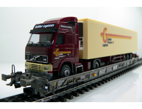 Märklin 47404 SBB Hupac Typ Saakms LKW - Galliker Transport & Logistik