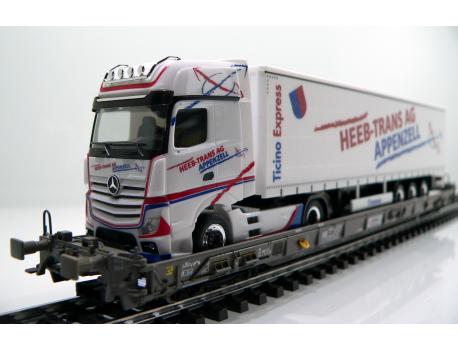Märklin 47404 SBB Hupac Typ Saakms LKW - Heeb Transporte Appenzell