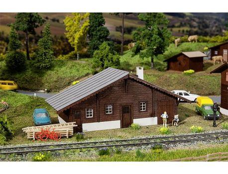Faller 120245 Güterschuppen Langwies - Swiss Modells Lasercut