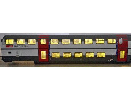 HAG 920050 Beleuchtungsset für alle IC Doppelstockwagen