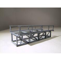 HACK 11030 Unterzug- Kastenbrücke 12 cm 1- gleisig, grau