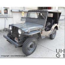 005102 CH Armee-Jeep Willys M38A1 mit Anhänger