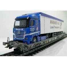 Märklin 47404-228 SBB Hupac Typ Saakms LKW - Wanner Int. Transport AG Schaffhausen