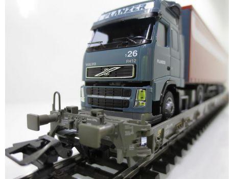 Märklin 47404-091 SBB Hupac Typ Saakms LKW - Volvo Planzer