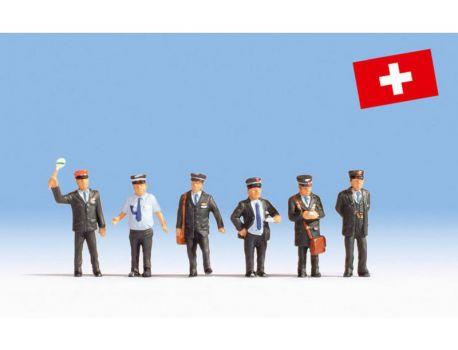 NOCH 15266 Bahnbeamte Schweiz Figuren H0