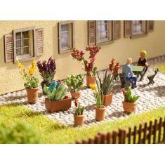NOCH 14012 Zierpflanzen in kleinen Blumentöpfen