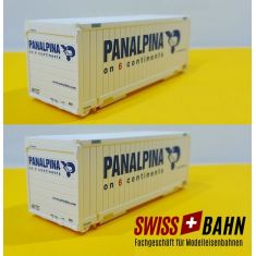 Liliput 212110 Frachtcontainer Panalpina Hi-Res Set
