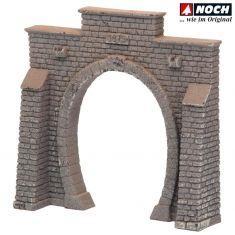 NOCH 58051 Tunnel-Portal Profi Plus, lackiert 1 gleisig H0