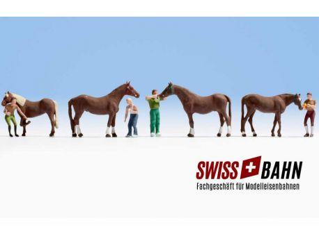 NOCH 15632 Pferdepflege - Pferde div. H0