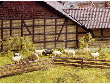 NOCH 13040 Weidezaun Holz, handbemalt H0