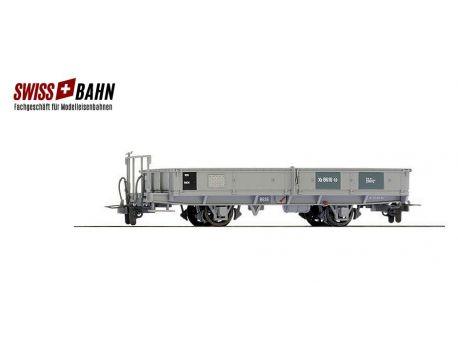 BEMO 2257196 RhB Xk 8616 Bahndienst-Flachwagen grau