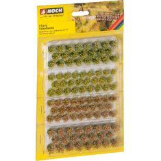 NOCH 07016 Grasbüschel Feldblumen - Selbstklebend 98 Stück mehrfarbig