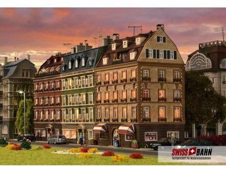 Vollmer 43780 Altbau Häuserblock- Altstadt Häuser