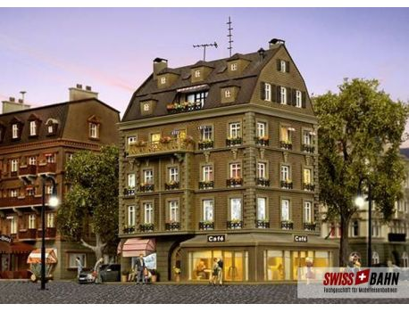 Vollmer 43783 Café mit Inneneinrichtung und LED-Beleuchtung H0