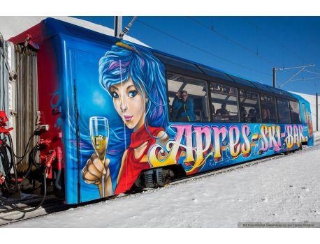 "Bemo 3288 297 Panoramawagen ""Après Ski- Bar"" blau"