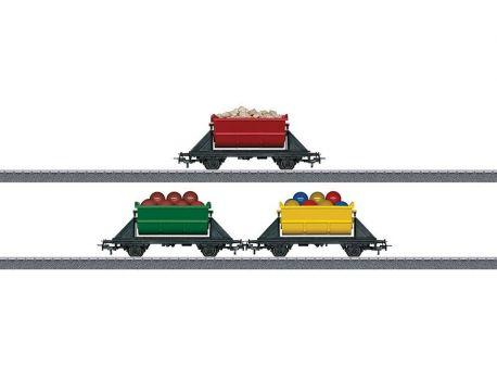 Märklin 44139 Wagen-Set mit 3 Kippwagen in verschiedenen Farben
