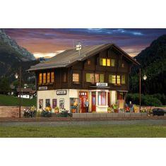 Kibri 39497 Bahnhof Litzirüti - Davos mit LED Innenbeleuchtung
