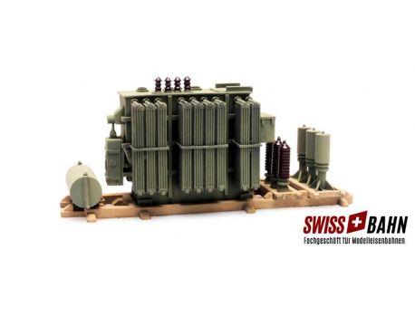 SWIBA 487801 AEG Transformator auf Holzbau 1:87 Resin Bausatz