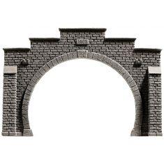 NOCH 58052 Tunnel-Portal, 2-gleisig, 21 x 14 cm H0