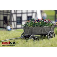 Busch 1228 Holz- Leiterwagen mit Blumenpracht H0
