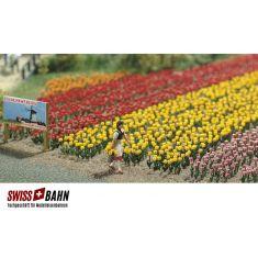 Busch 1206 Tulpen 120 Stück in 5 verschiedenen Farben H0