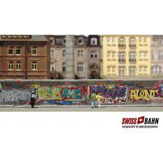 Busch 1016 Betonmauer mit Graffitys - H0