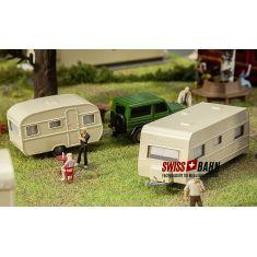 FALLER 140483 Wohnwagen- Set mit 2 Wohnwagen in H0