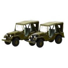 005105 Set mit 2 Willy's Jeep M38A1 Schweizer Armee H0