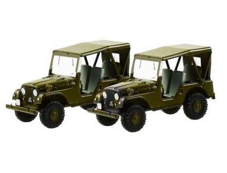 005105 Set mit 2 Willy's Jeep M38A1 Schweizer Armee H0