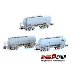 Kato Hobbytrain 23480 - 3-tlg. Set Staubsilowagen Bauart Uacs der SBB