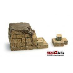 SWIBA 487.801.50 Ladegut LKW- Heuballen Resin Fertigmodell H0
