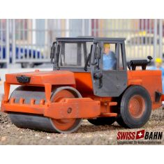 Kibri 11554 HAMM Vibrationswalze, orange - H0