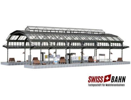 Kibri 39568 Grosse Bahnsteighalle Kienbach - Kopfbahnhof H0