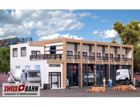 Vollmer 45607 Fahrzeughalle mit Anbau H0