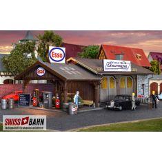 Vollmer 45599 Reparaturwerkstatt Pfizis Garage mit Tankstelle H0