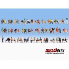 NOCH 18402 Mega-Spar-Set sitzende Figuren H0