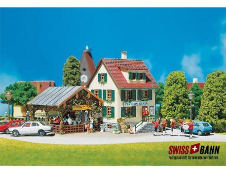 Faller 130269 Dorfwitzschaft- Schützenfest mit Anbau H0