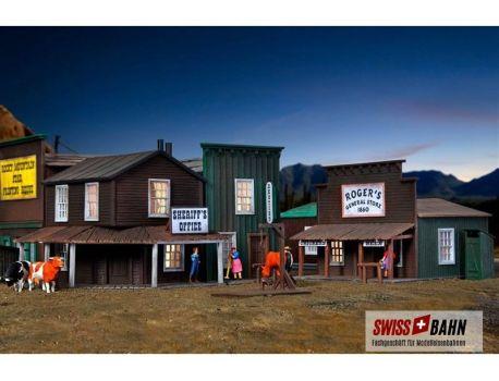 Kibri 38502 Sheriff - Klassische Western Häuser H0