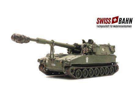 """SwissBahn 70155 """"CH Panzerhaubitze M109"""" der Schweizer Armee. Armee."""