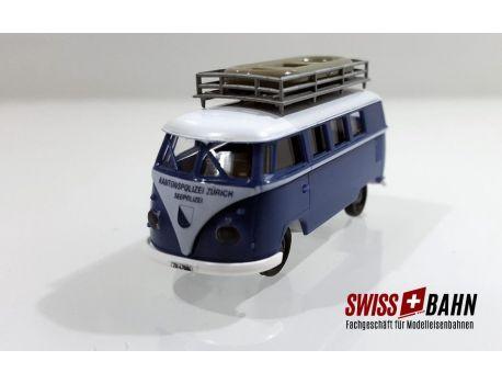 """Brekina 90890 - VW Bus T2 """"Kantonspolizei Zürich"""" Sondermodell"""