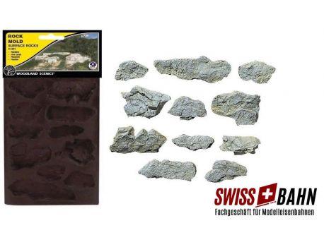 Woodland 1231 Giessform Oberflächen Felsen - Wie in echt!