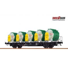 "BRAWA 49135 Behältertragwagen Lbs 589,  ""Knorr"" H0"