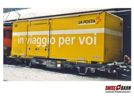 "BEMO 2269 100 RhB Lb-v 7880 mit Post-Container ""zuverlässig"""