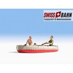 NOCH 16815 Schlauchboot mit Bikini Girl und Paddel - H0
