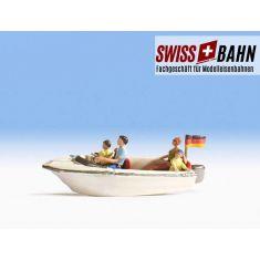NOCH 16820 Schnelles Motorboot mit 4 Passagieren - H0
