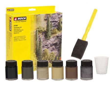Noch 61200 Naturfarben-Set, 6 Farbkonzentrate